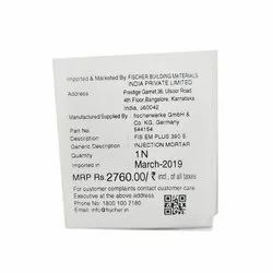 Paper Printed Barcode Sticker, Packaging Type: Packet