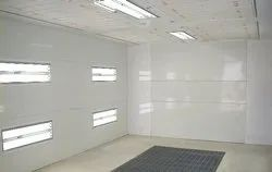 Conveyorised Water Wall Type Paint Booth