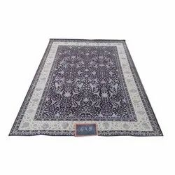 Rectangular Printed Hand Knotted Floor Carpet, Size: 5 X 8 feet