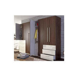Swinging Door Wooden Wardrobe