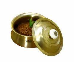 Polished Bronze Kansa Casserol (Unbreakable), Capacity: 850 & 1250 mL