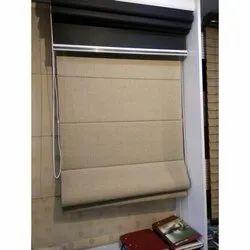 Brown Pvc Roman Window Blinds