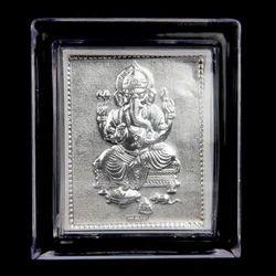 999 Silver Ganesh Frame