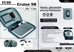 Fuzo Cruise 5k Travel Organizer