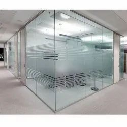 Toughened Glass Aluminum Office Partition, Thickness: 8-12 Mm (glass Thickness)