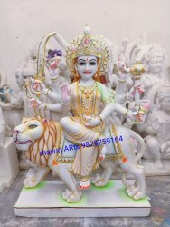 White Marble Durga Devi Statue