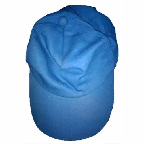 bb2e9c5c321 Blue Plain Mens Cotton Sports Cap