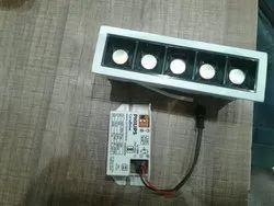 White Square Round LED Profile Cob Light