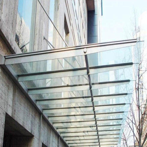 Transparent Toughened Glass Canopy Rs 450 Square Feet