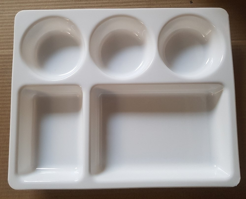 compartment plate 5 in 1 microwave safe pp virgin plastic dinner plate bpa free food grade