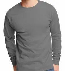Men's Half Sleeve Cotton Round Neck Tshirt, Size: L