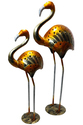 Master Crafts Multicolor Iron Swan Tea Light Holder Set Of 2