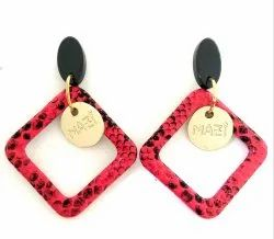 Fashion Earring Black And Red