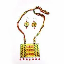 Exclusive Hand Painted Glass Necklace Set