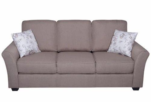Andorra Fabric Sofa 3 Seater Brown