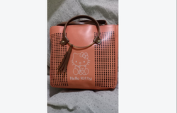 Ladies Peach Polyester Adjustable Handbag