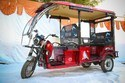 Tumtum With X1 Kit - Battery Operated Rickshaw With Rear Coil Spring Suspension