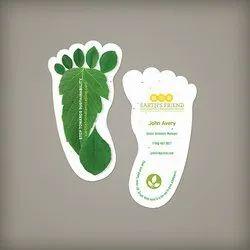 Paper Plantable Visiting Cards - Footprint Shape