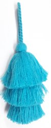Blue Designer Tassels