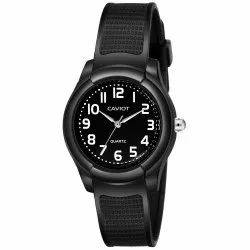 Caviot Black Round Analog Sports Watch for Boys and Girls - CK009