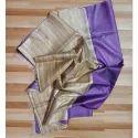 Ladies Plain Tussar Silk Saree