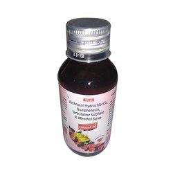 Ambroxol Hydrochloride Guaiphenesin Terbutaline Sulphate and Menthol Syrup