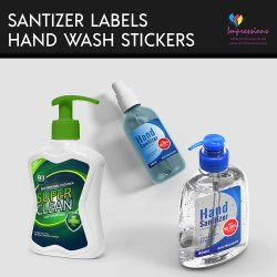 Sanitizers and Handwash Stickers
