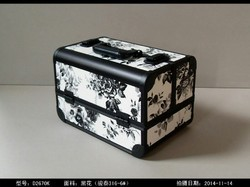 Black And White Polyester Make Up Bag, For Personal, Rectangular