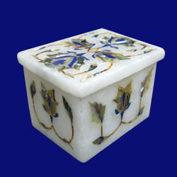 Small White Marble Jewelry Box