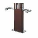 Designer Wooden Glass Staircase Pillar