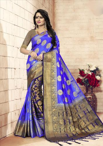 0badbe7634237 Silk Jacquard Patli Pallu Saree With Blouse Piece