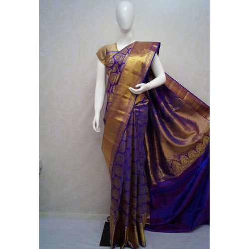 6e2934a63c Pure Silk Party Wear Kanchipuram Soft Silk Saree, With Blouse Piece ...