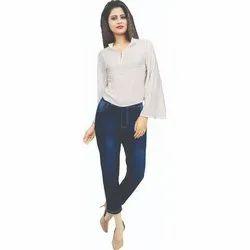 ON & ON Regular Fit Ladies Denim Pant, Size: XL
