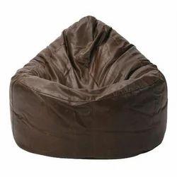 Leatherete Brown Leather Bean Bag Sofa