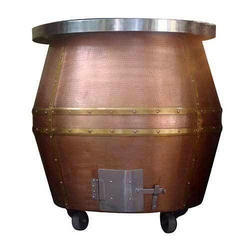 Copper Tandoor, For Commercial, Capacity: 100 L