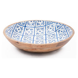 Wooden Enamel Medium Size Serving Round Bowl