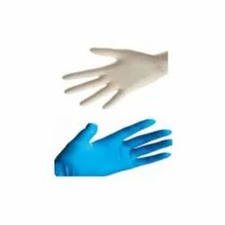 280 mm Mid forearm Latex/Nitrile Examination Gloves, Size: 6.5 inches
