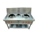 Stainless Steel Three Burner Chinese Bhatti