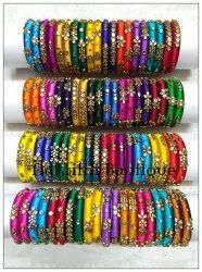 Kundan Silk Thread Bangles