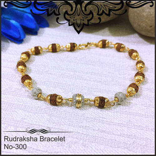 High Gold Plated Rudraksha Bracelet