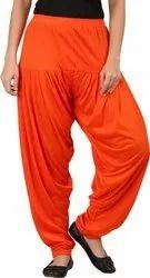Cotton Patiala Salwar For Ladies, Waist Size: Free