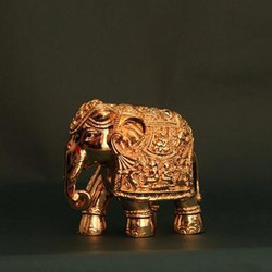 Gold Plating Elephant Statue