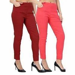 Ladies Cotton Cigarette Pants, Cotton Pant, Potli Pant, Designer Pant, Pocket Pant