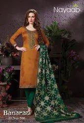 Nayaab Designer Banarasi Dupatta Suit