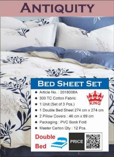 Assorted Cotton Antiquity King Bed, What Size Is A Double Bed Cover In Cm