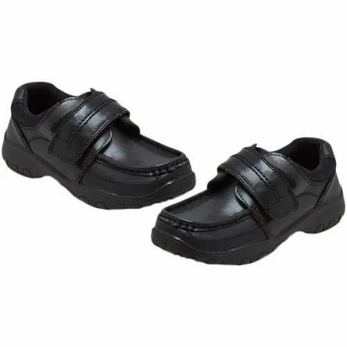 Boys School Shoes Black Size 6