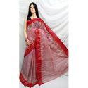 Red And Pink Dhanekhali Tant Saree