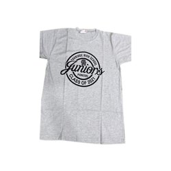 Half Sleeves Light Grey Mens Cotton Printed T Shirts