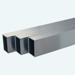 Silver Stainless Steel Square Pipe 316L, Size: 3 Inch