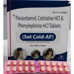 Paracetamol Cetirizine HCL & Phenylephrine HCL Tablets